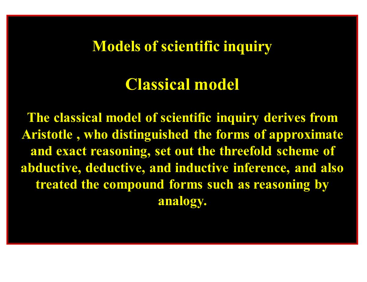 Models of scientific inquiry