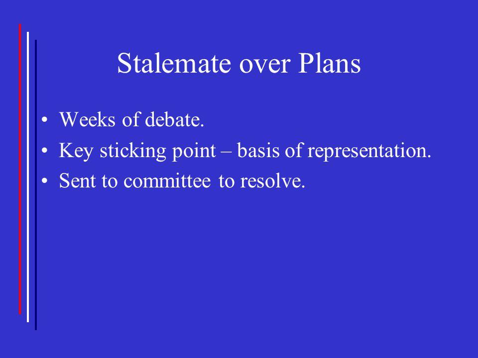 Stalemate over Plans Weeks of debate.