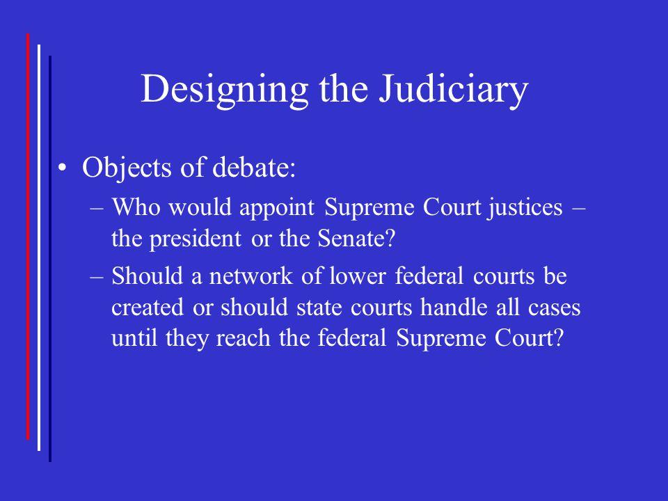 Designing the Judiciary