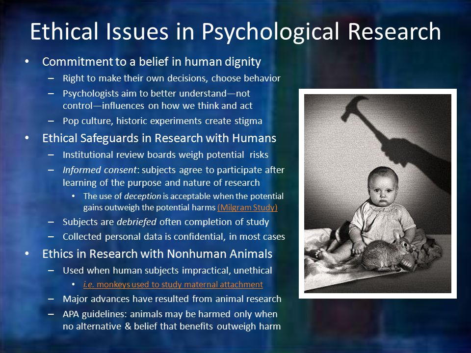 Case studies ethical issues psychology