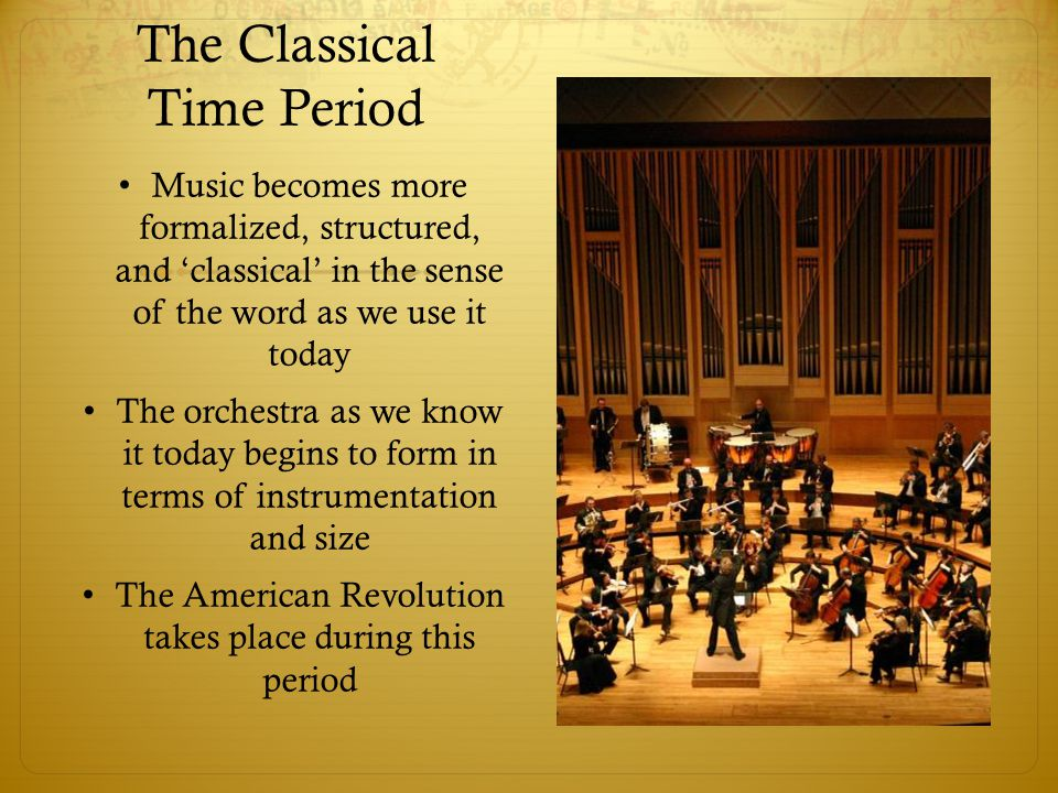 The Classical Time Period