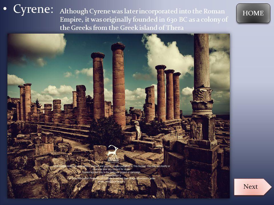 Cyrene: HOME.
