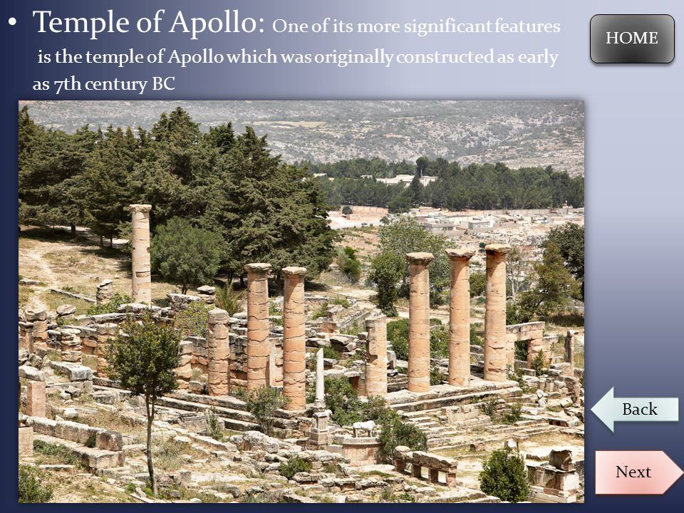 Temple of Apollo: One of its more significant features