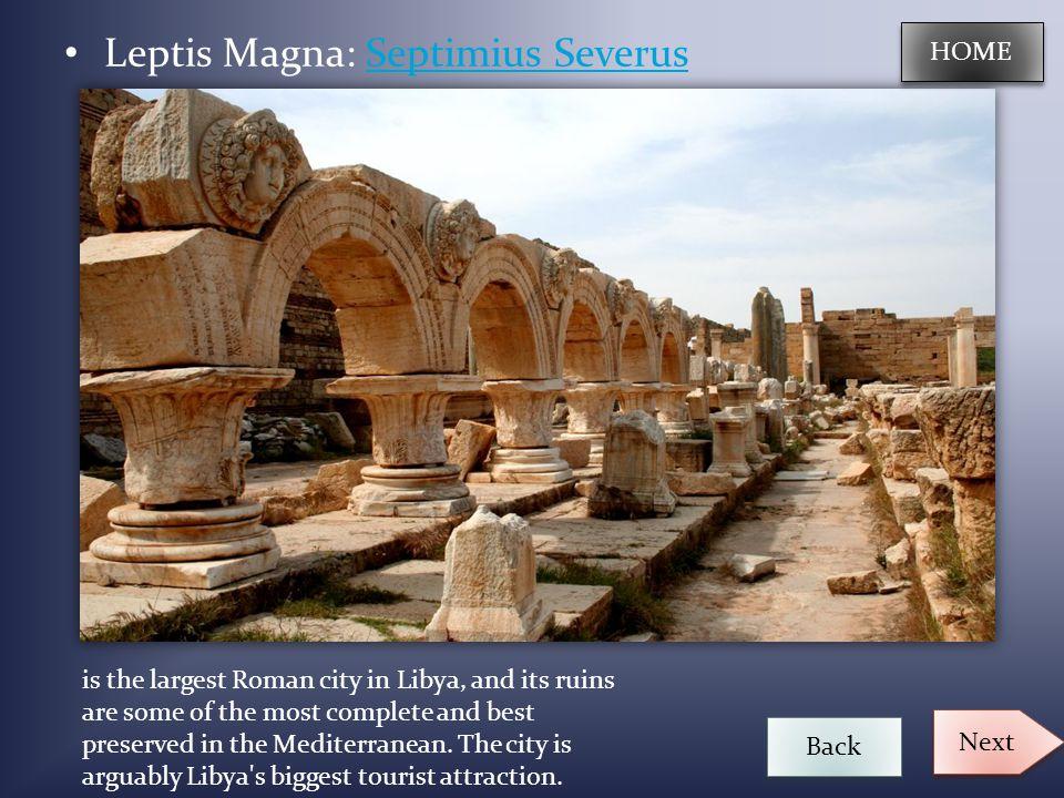 Leptis Magna: Septimius Severus