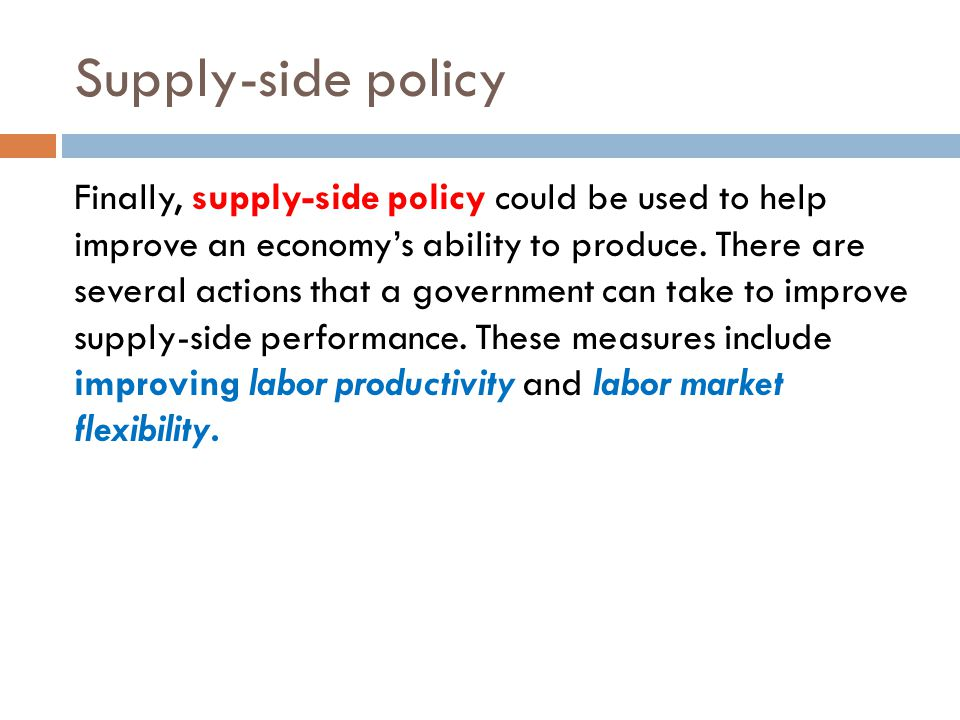 Supply-side policy
