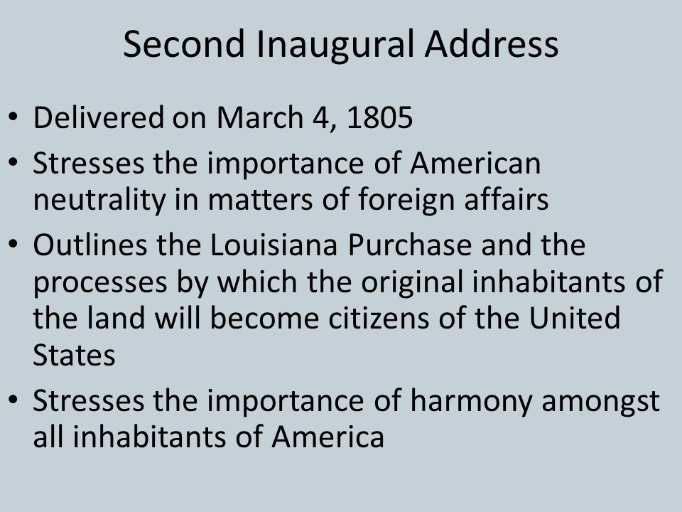 Second Inaugural Address