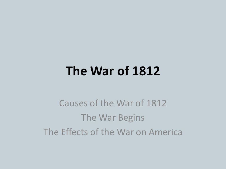 The Effects of the War on America
