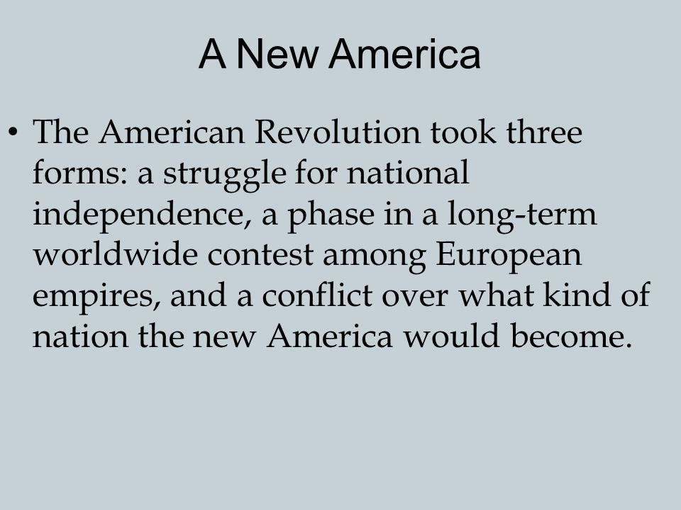 A New America