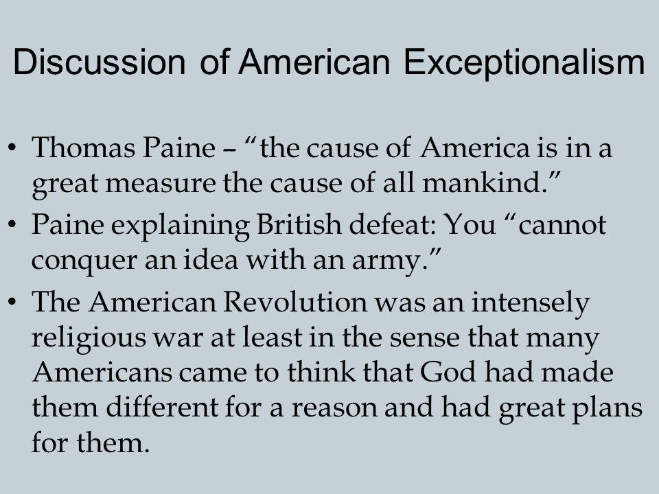 Discussion of American Exceptionalism