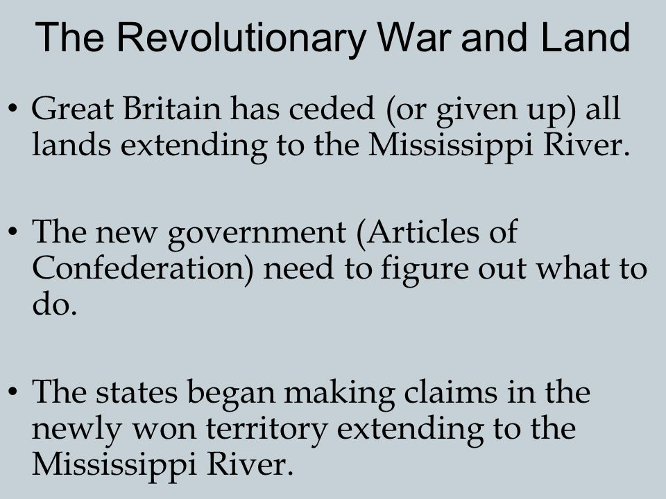 The Revolutionary War and Land