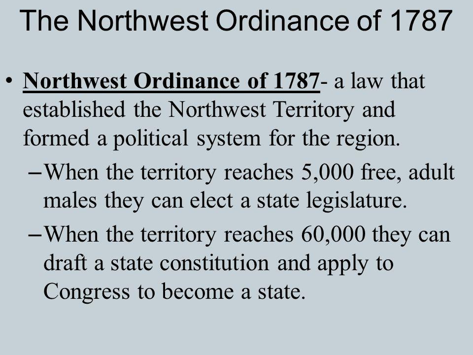 The Northwest Ordinance of 1787