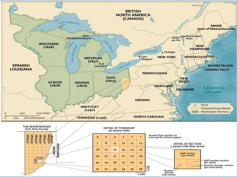 Map 7.2 Western Ordinances, 1785–1787