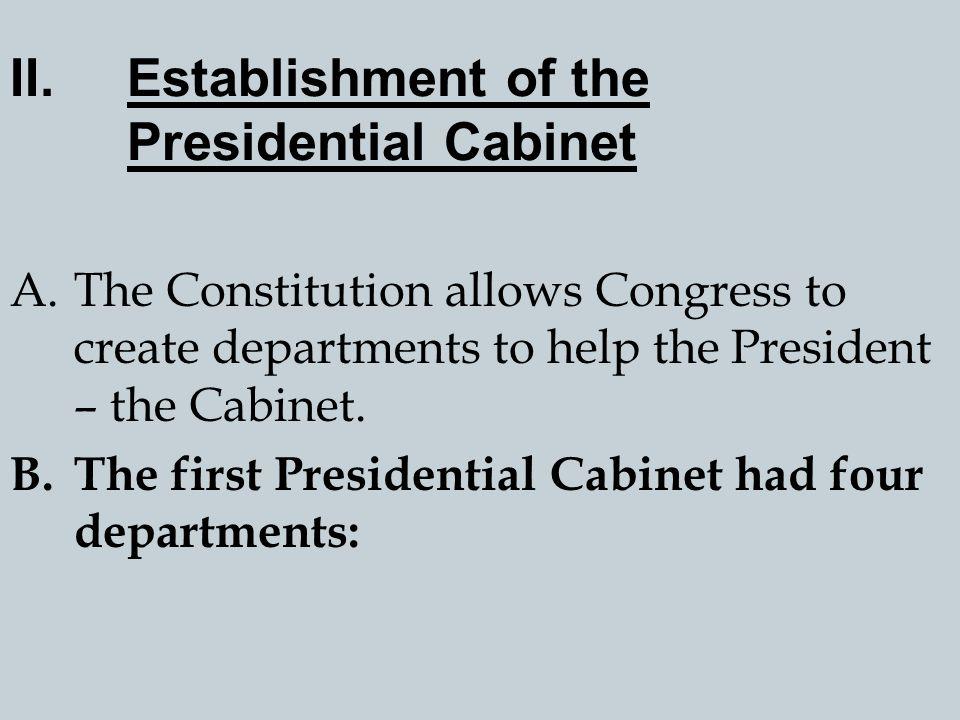 Establishment of the Presidential Cabinet