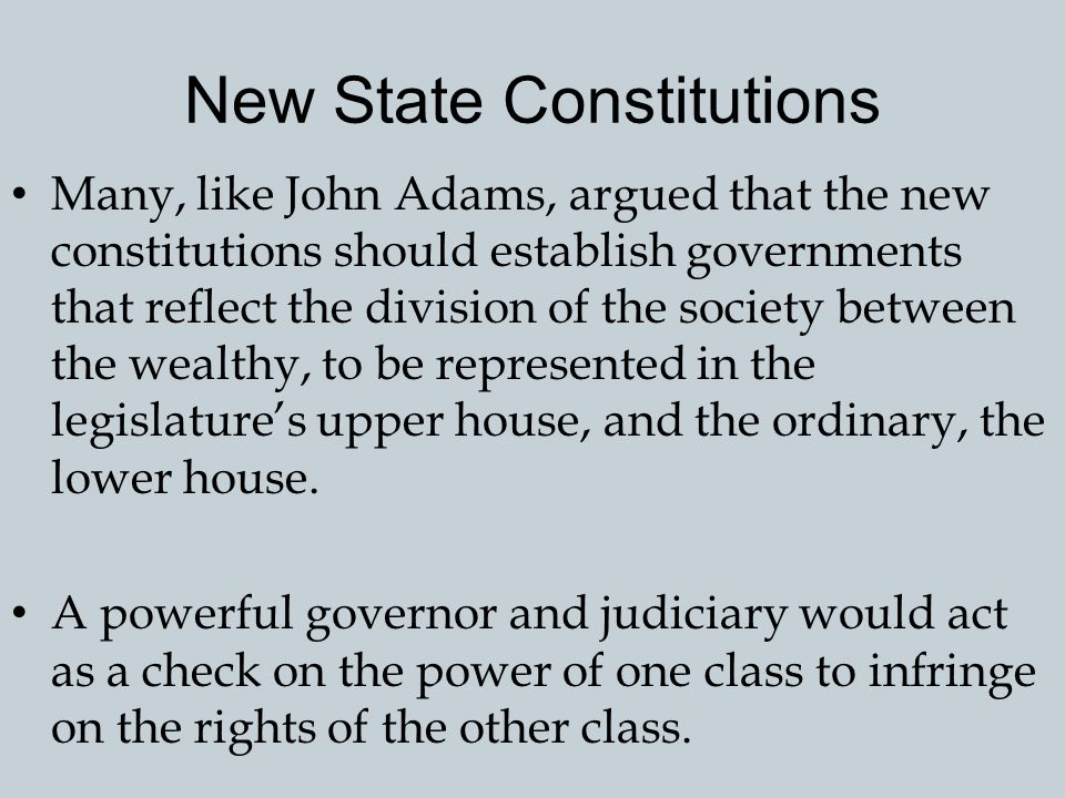 New State Constitutions