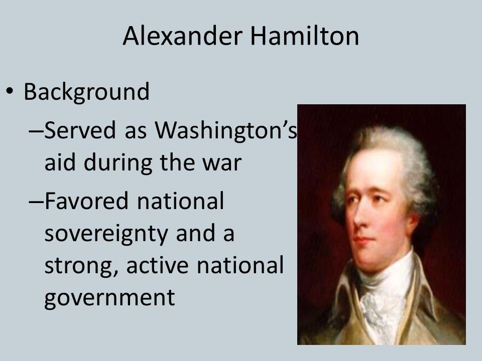 Alexander Hamilton Background