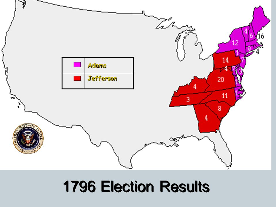 Adams Jefferson 1796 Election Results