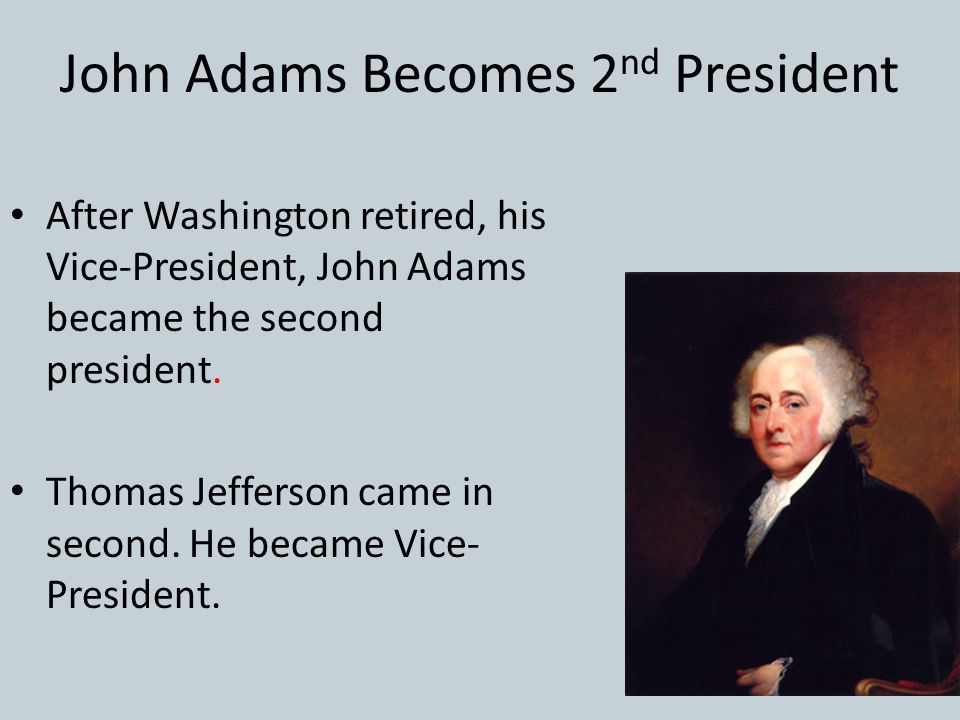 John Adams Becomes 2nd President