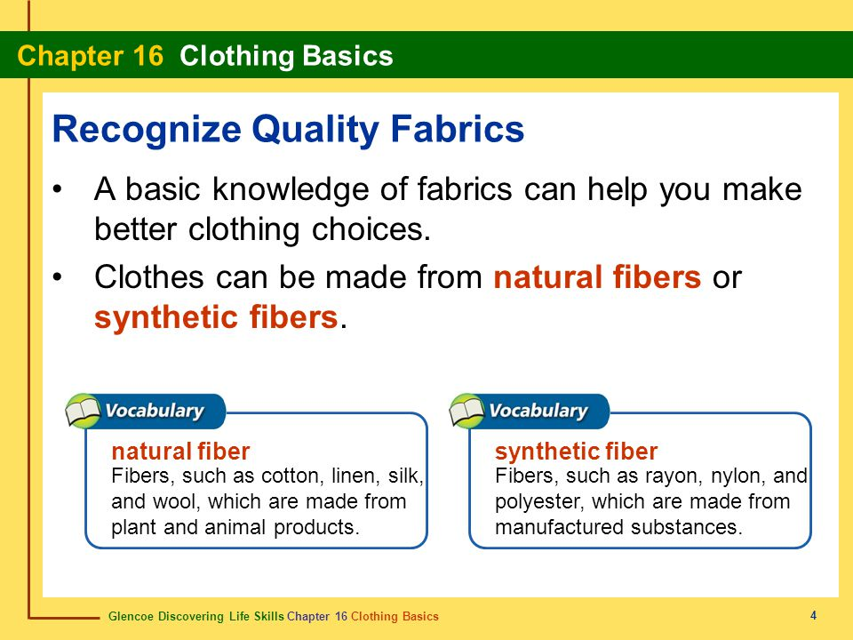 Recognize Quality Fabrics