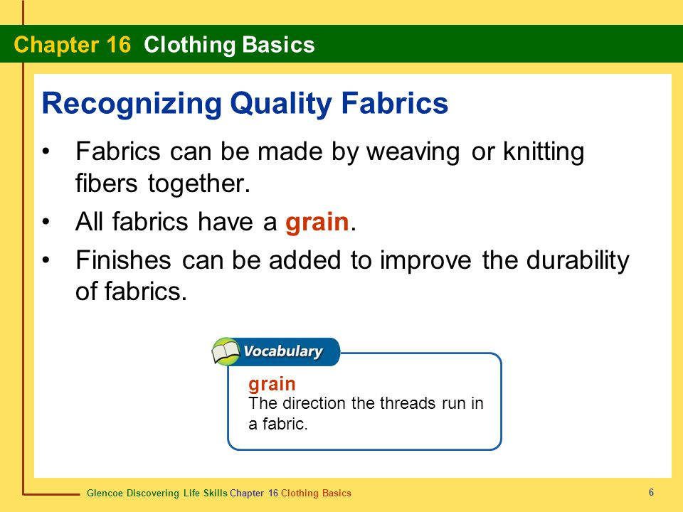 Recognizing Quality Fabrics
