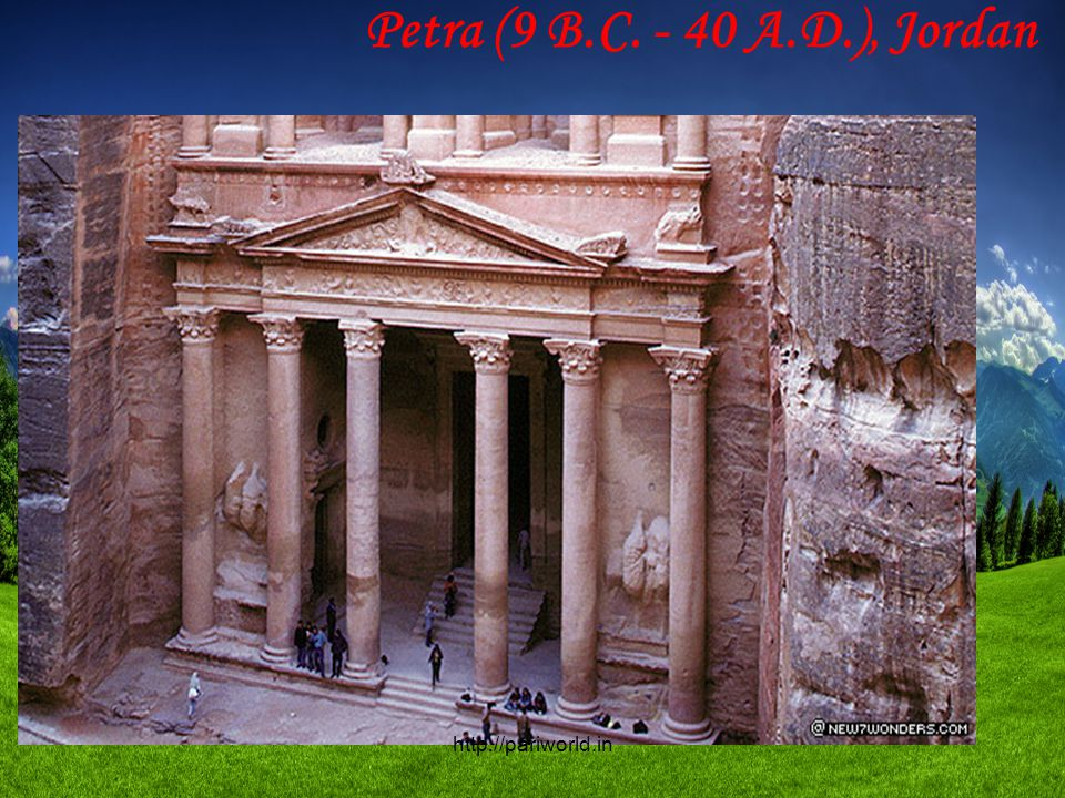 Petra (9 B.C. - 40 A.D.), Jordan http://pariworld.in