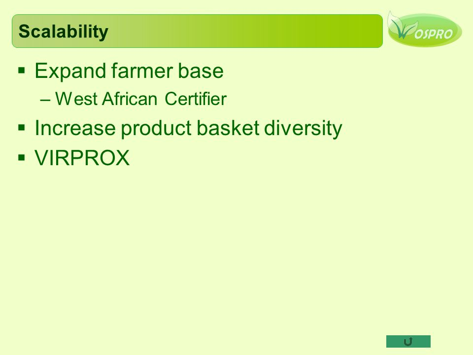 Increase product basket diversity VIRPROX