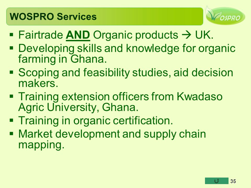 Fairtrade AND Organic products  UK.