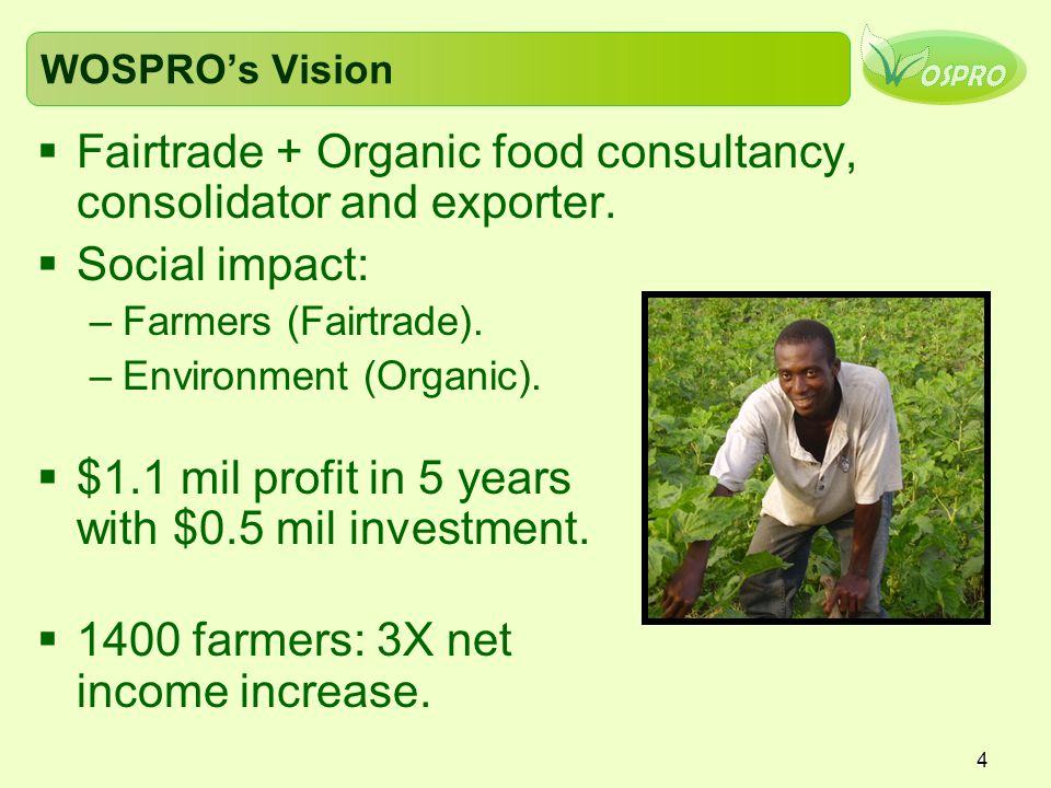 Fairtrade + Organic food consultancy, consolidator and exporter.