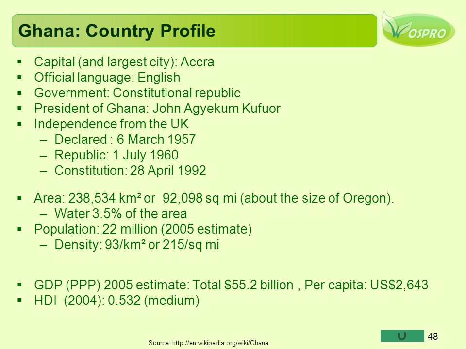 Ghana: Country Profile