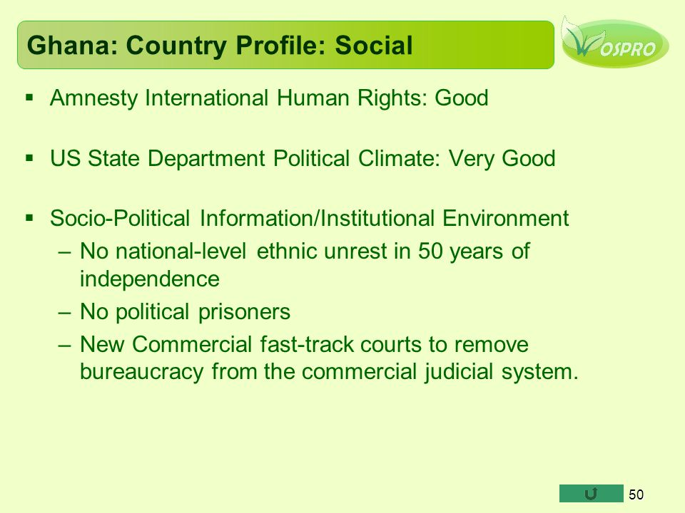 Ghana: Country Profile: Social
