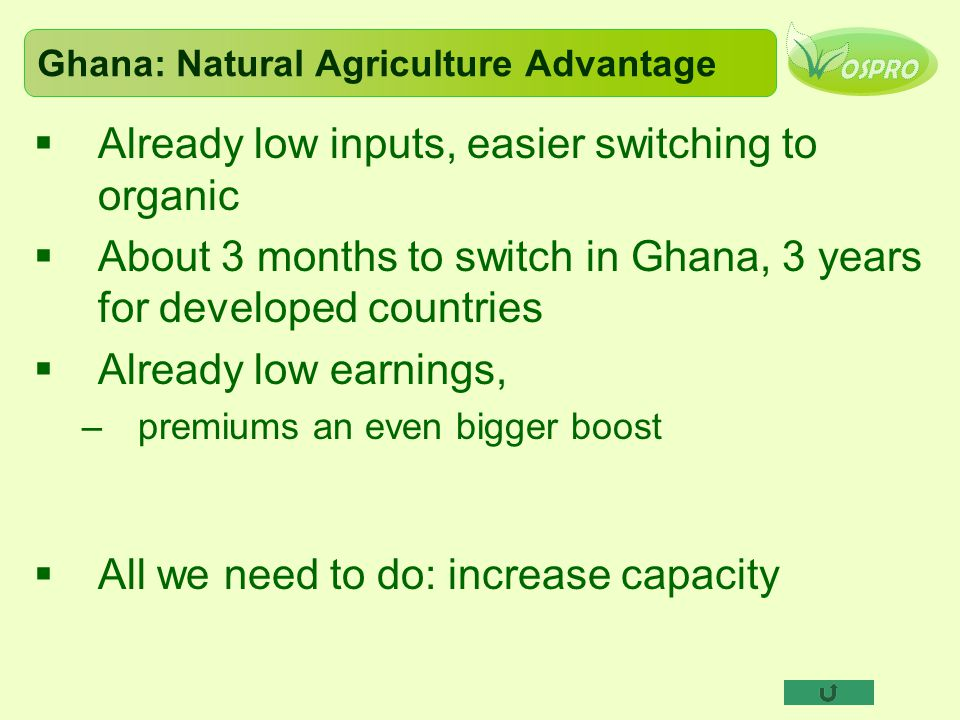 Ghana: Natural Agriculture Advantage