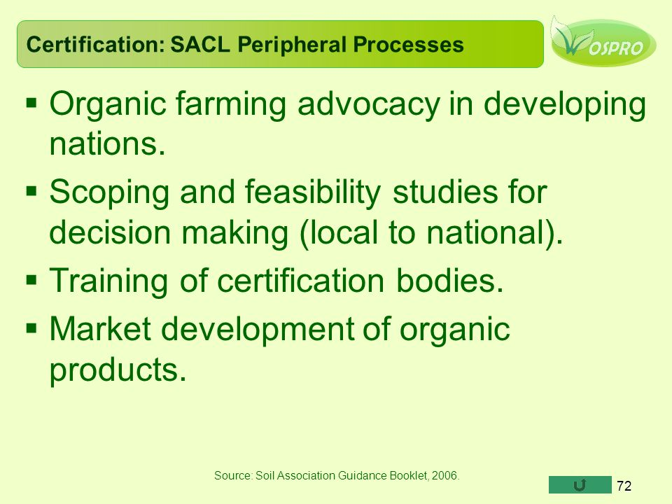 Certification: SACL Peripheral Processes