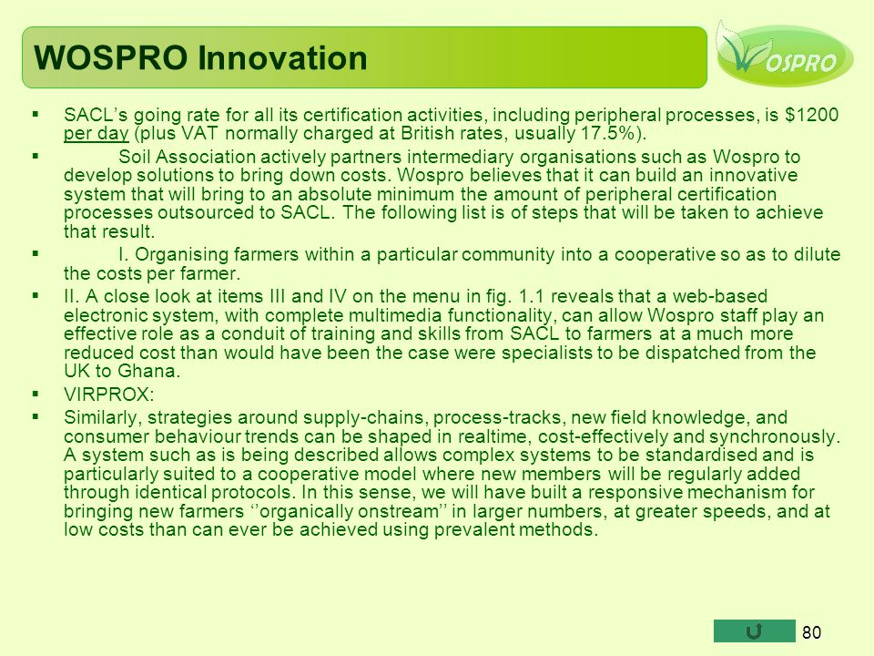 WOSPRO Innovation
