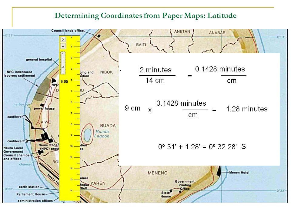 Determining Coordinates from Paper Maps: Latitude