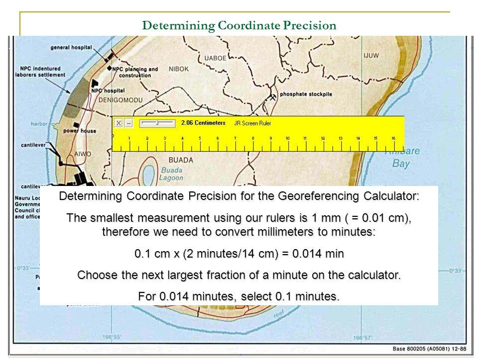 Determining Coordinate Precision