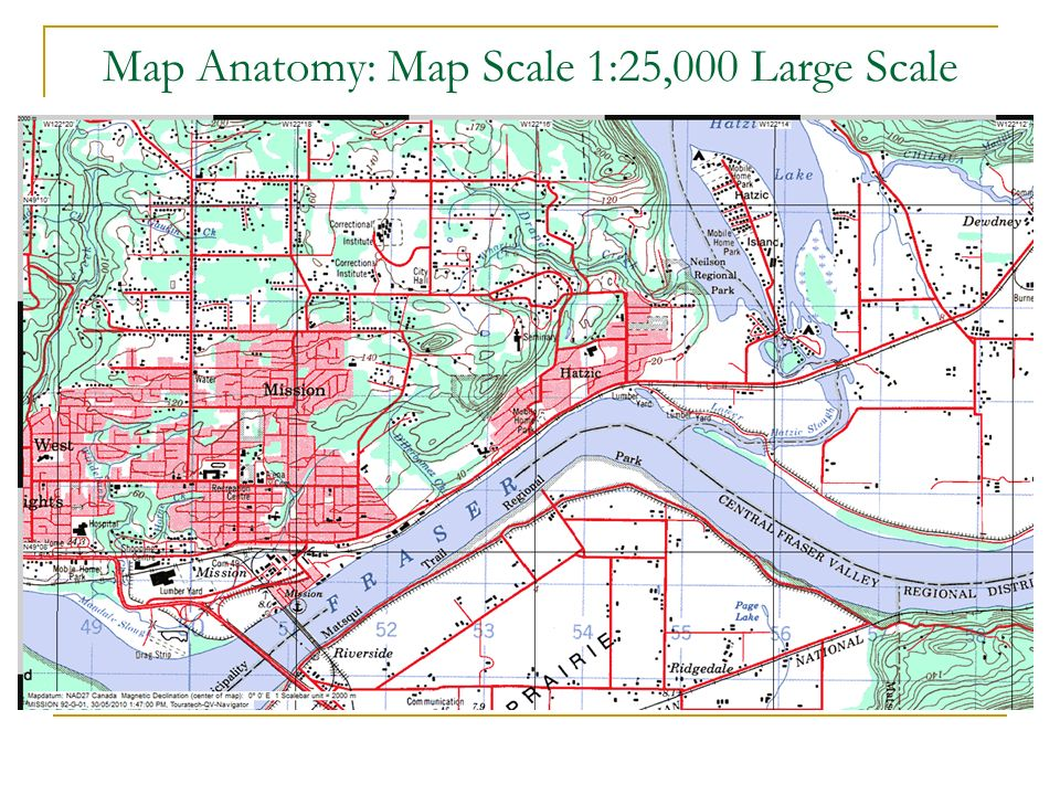 Map Anatomy: Map Scale 1:25,000 Large Scale