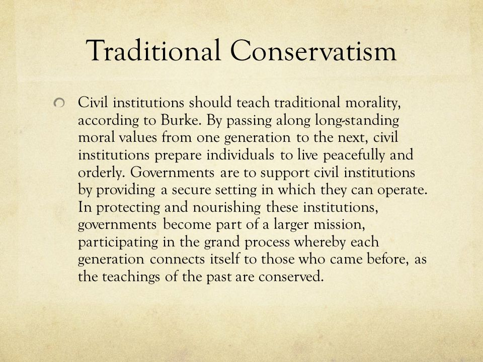 Traditional Conservatism