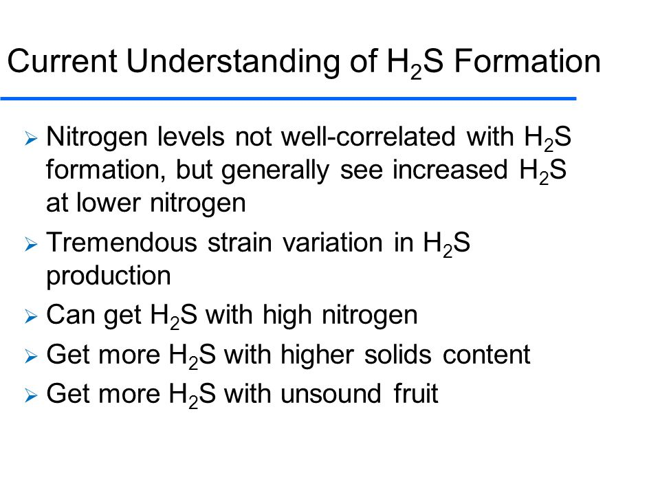 Current Understanding of H2S Formation