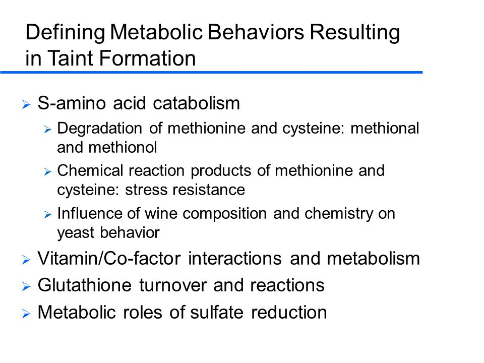 Defining Metabolic Behaviors Resulting in Taint Formation