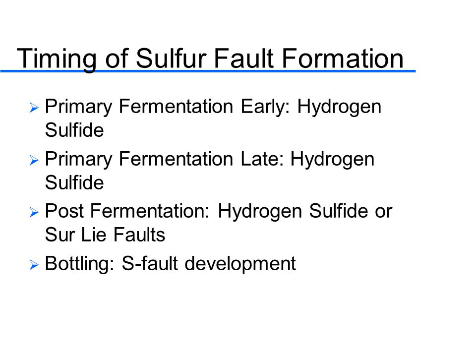 Timing of Sulfur Fault Formation