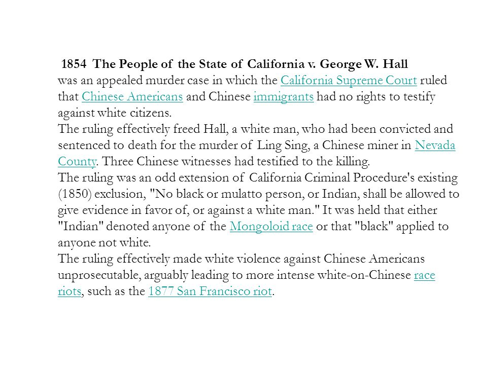 1854 The People of the State of California v. George W. Hall