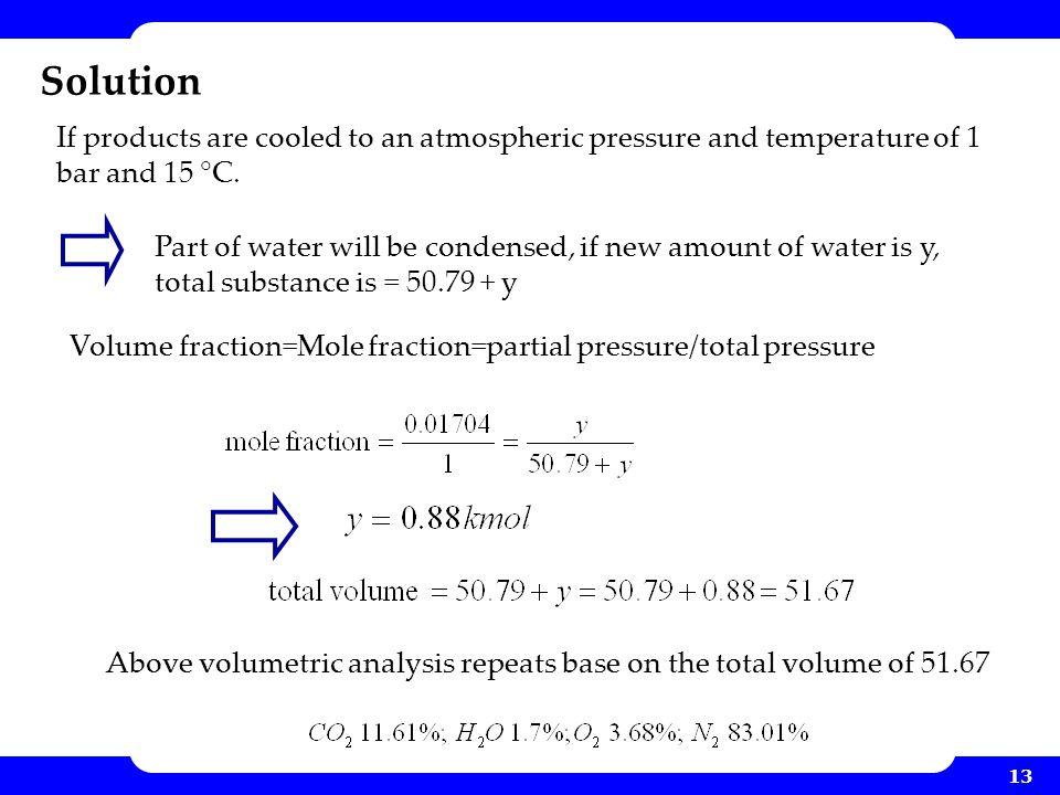 Volume fraction=Mole fraction=partial pressure/total pressure