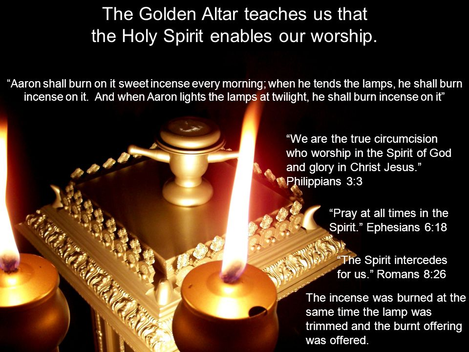 The Golden Altar teaches us that the Holy Spirit enables our worship.