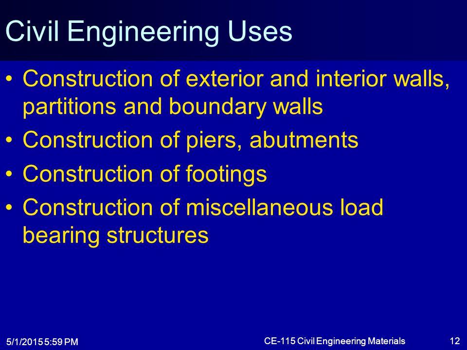 Civil Engineering Uses