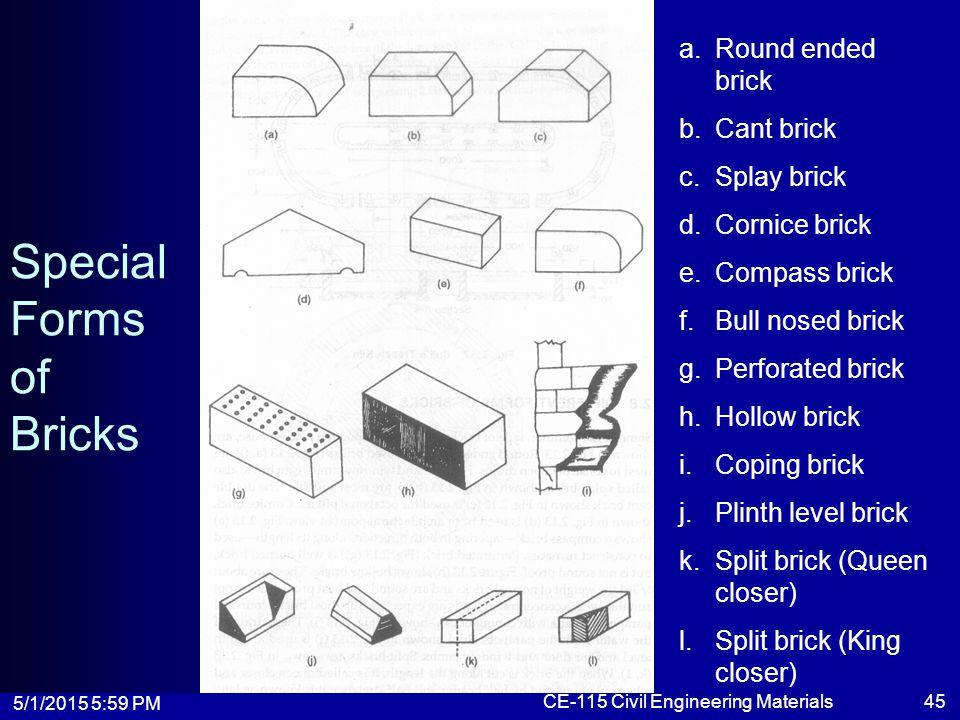 Special Forms of Bricks