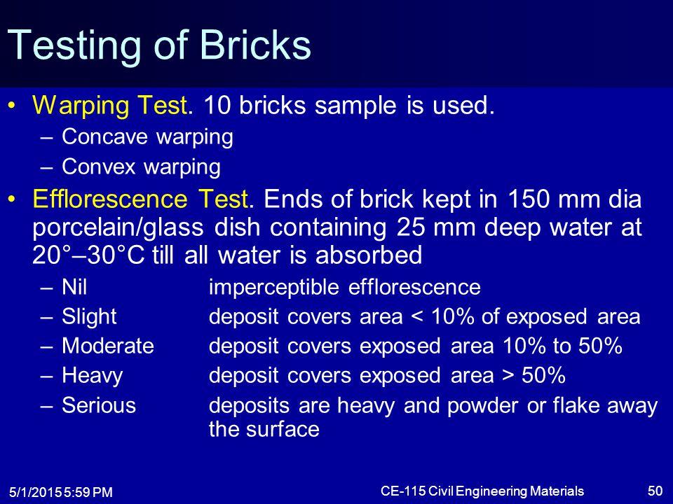 CE-115 Civil Engineering Materials