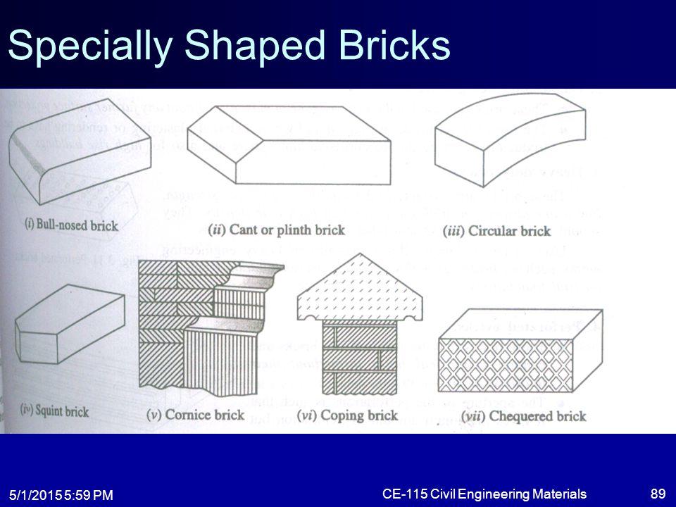 Specially Shaped Bricks