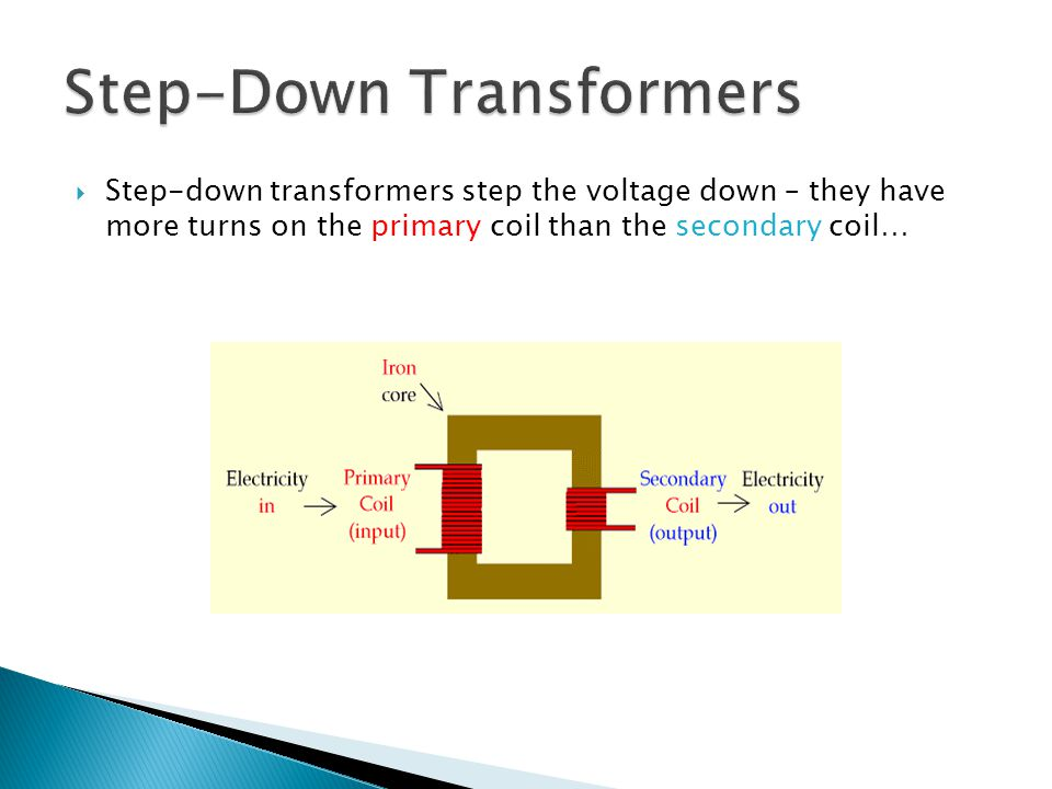 Step-Down Transformers