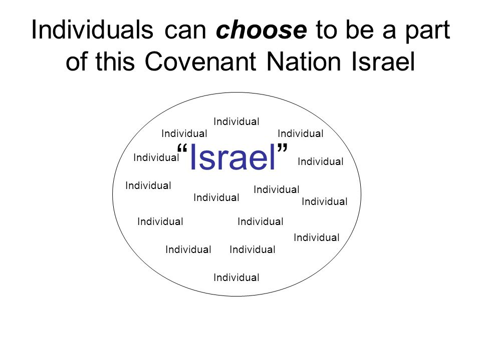 Individuals can choose to be a part of this Covenant Nation Israel