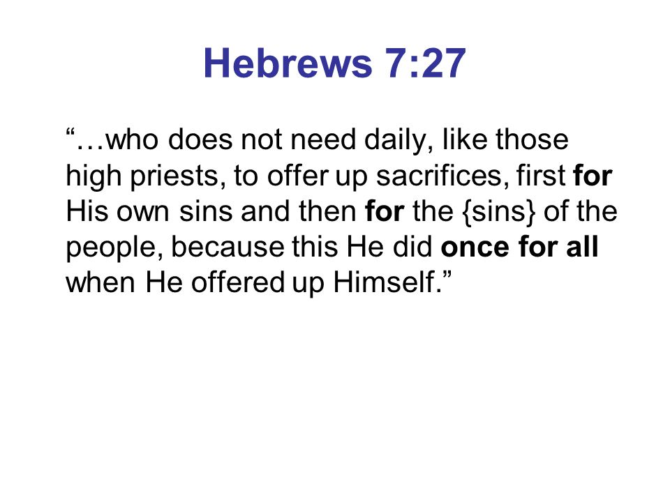 Hebrews 7:27