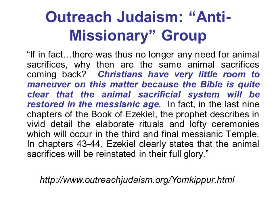 Outreach Judaism: Anti-Missionary Group